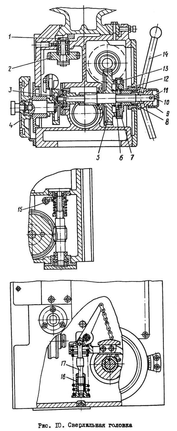 2Н125 Сверлильная головка станка 2Н125